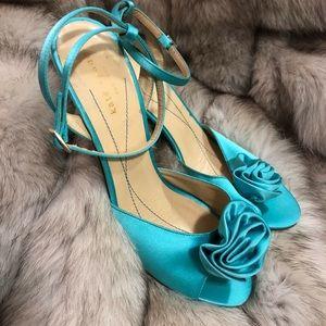 Timeless Aqua Satin Classic Kate Spade Heels